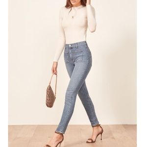 Reformation High Rise Skinny Jeans Size 24